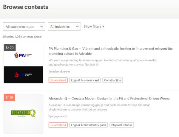 99designs contests